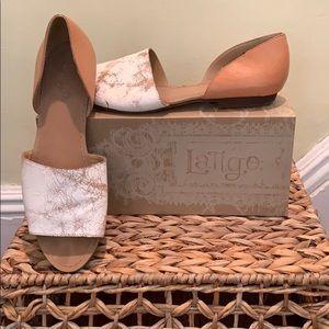 LaTigo Milly neutral dual tone sandals